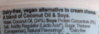 Queso vegetal Creamy Original - Ingredients - en