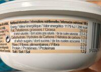 Bute Island Foods Ltd Creamy Sheese Garlic & Herb - Informations nutritionnelles - fr