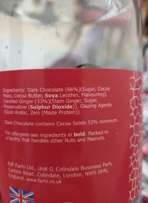 Dark Chocolate Ginger - Ingredientes - en