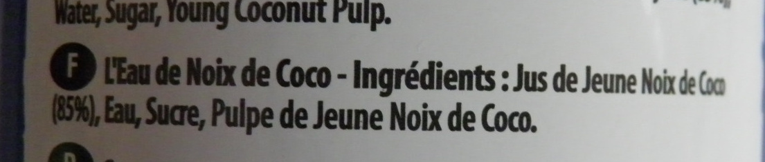 Coconut Water - Ingrédients - fr