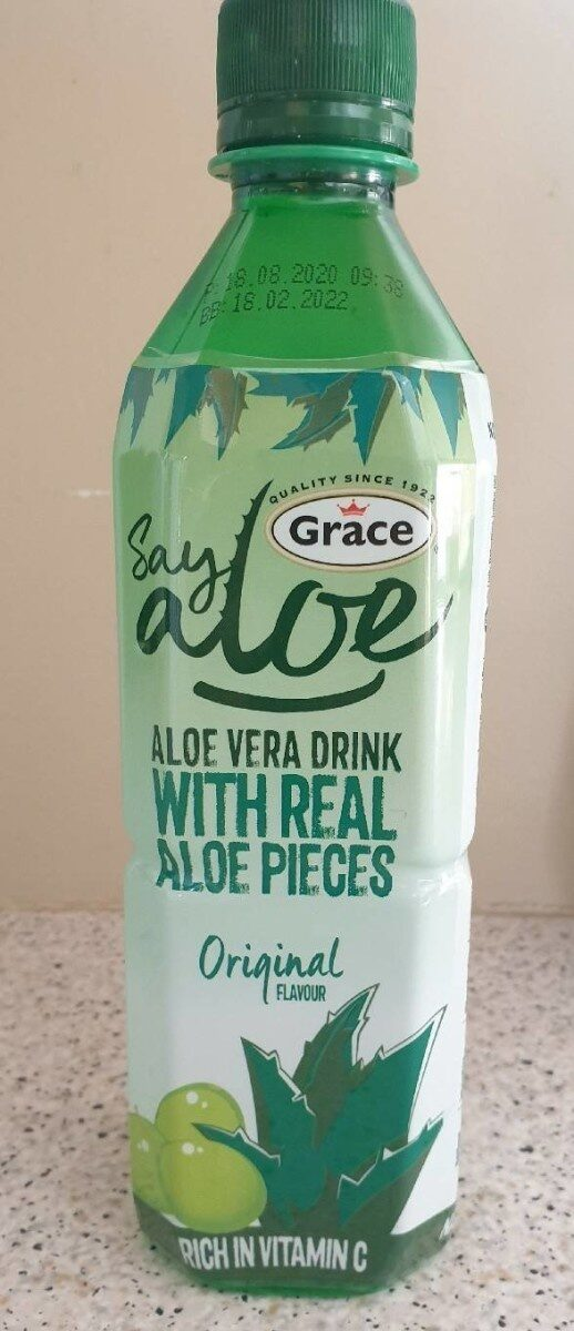ALOE VERA DRINK white real aloe pieces - Product - fr