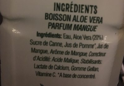 Aloe Vera Goût Mangue - Ingredients - fr