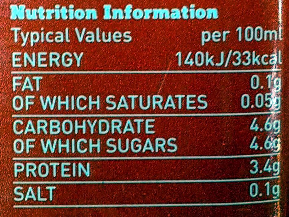 Skimmed Milk - Nutrition facts - en