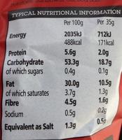 Handcooked Sea Salt potato crisps - Informations nutritionnelles