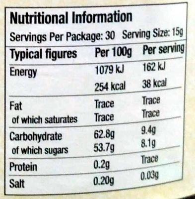 Light Brown Soft Sugar - Nutrition facts - en