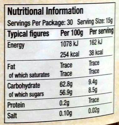 "Cooper's ""Oxford"" Fine Cut Oxford Marmalade - Nutrition facts - en"