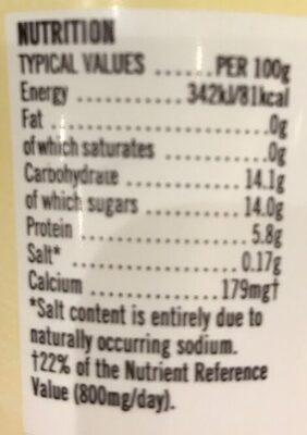 Vanilla - Nutrition facts - en