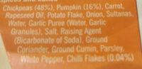 Sweet Pumpkin & Chilli Bites - Ingredients - en