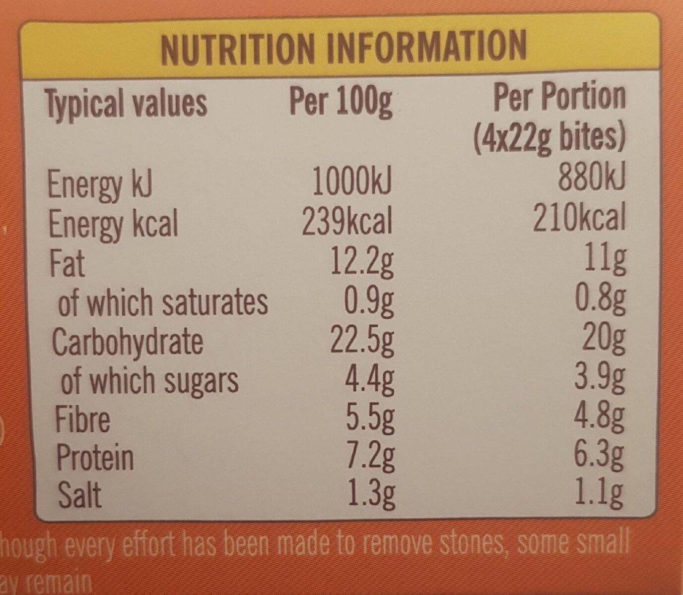 Sweet Pumpkin & Chilli Bites - Nutrition facts - en