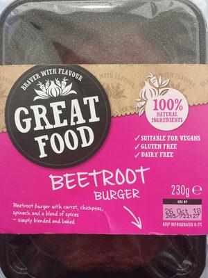 Beetroot Burger - Produit