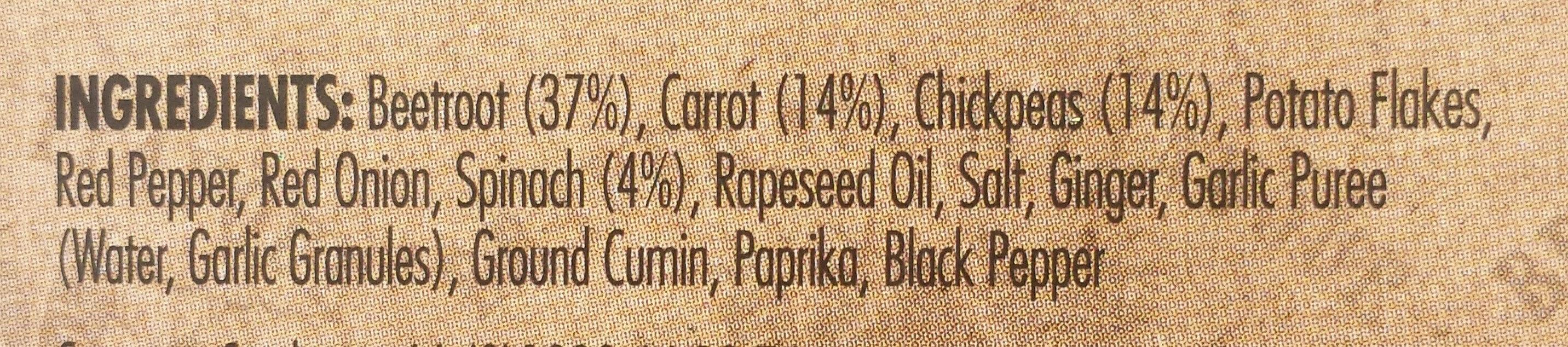 Beetroot Burger - Ingrédients - en