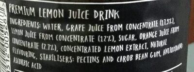 Still lemonade - Ingrediënten