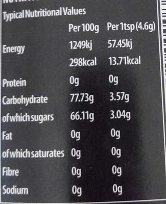 Premium Agave Nectar - Nährwertangaben