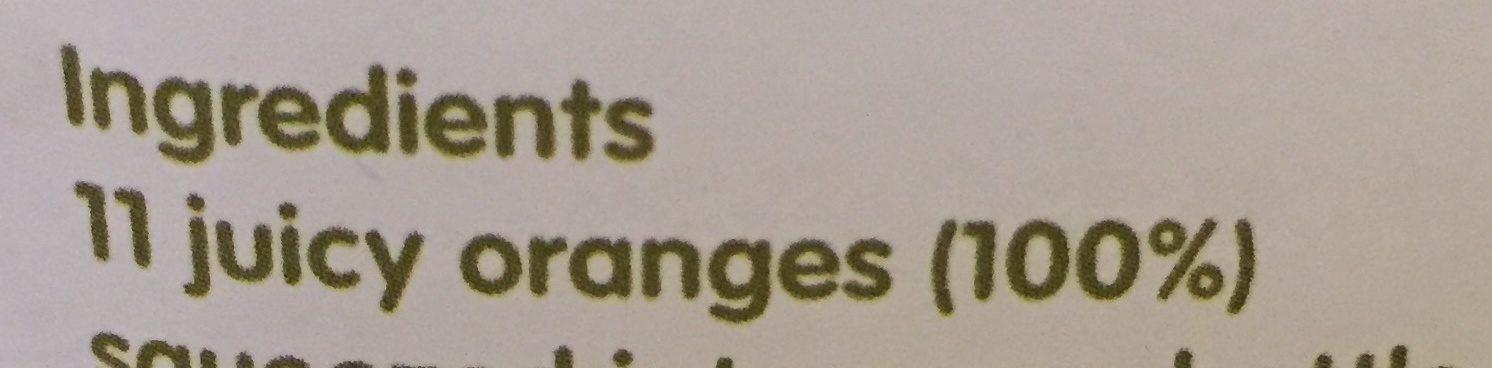 Orange Juice - Ingrédients