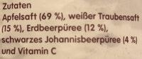 Apfel & Beeren Direktsaft - Ingrediënten - de