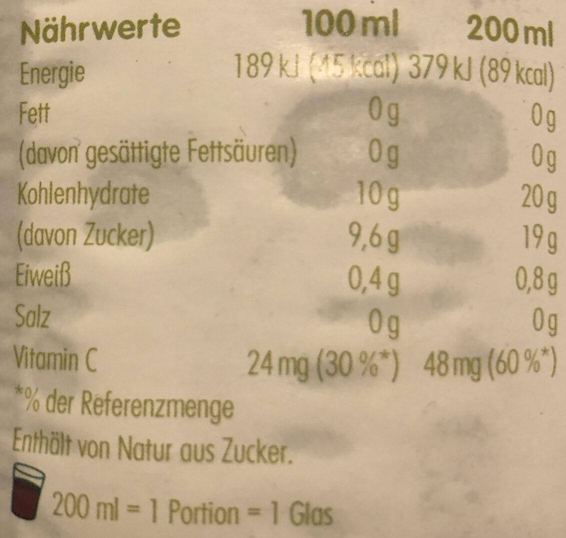 Apfel & Beeren Direktsaft - Valori nutrizionali - it