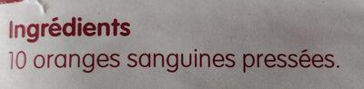 100% orange sanguine de Sicile - Ingredients - fr