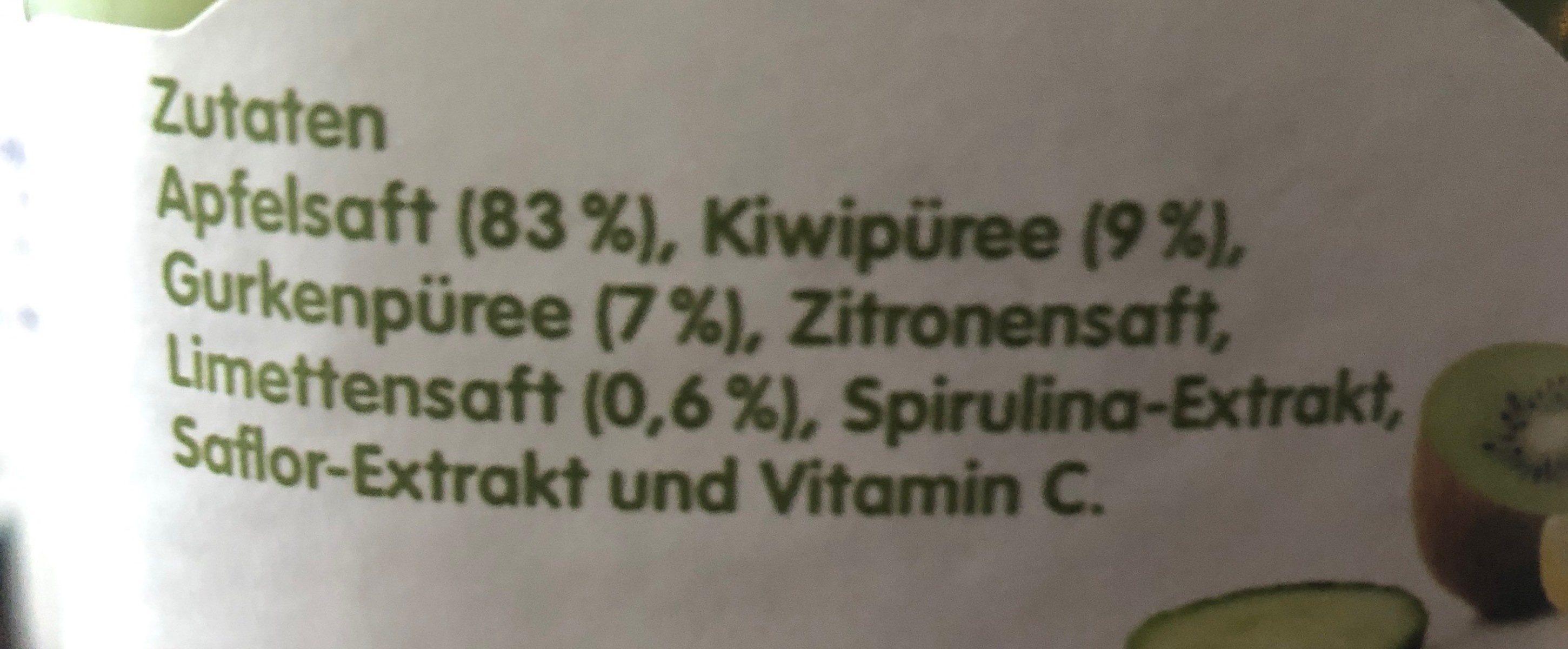 Jus pomme, kiwi, concombre - Ingrédients - fr