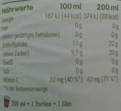 Innocent Multi Mix Rouge - Nährwertangaben - de