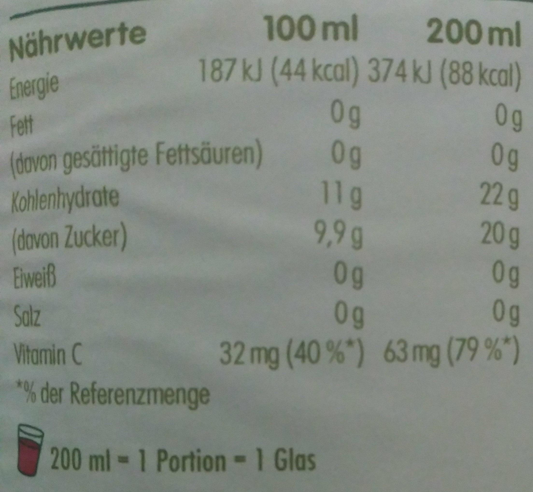Innocent Multi Mix Rouge - Voedingswaarden - de