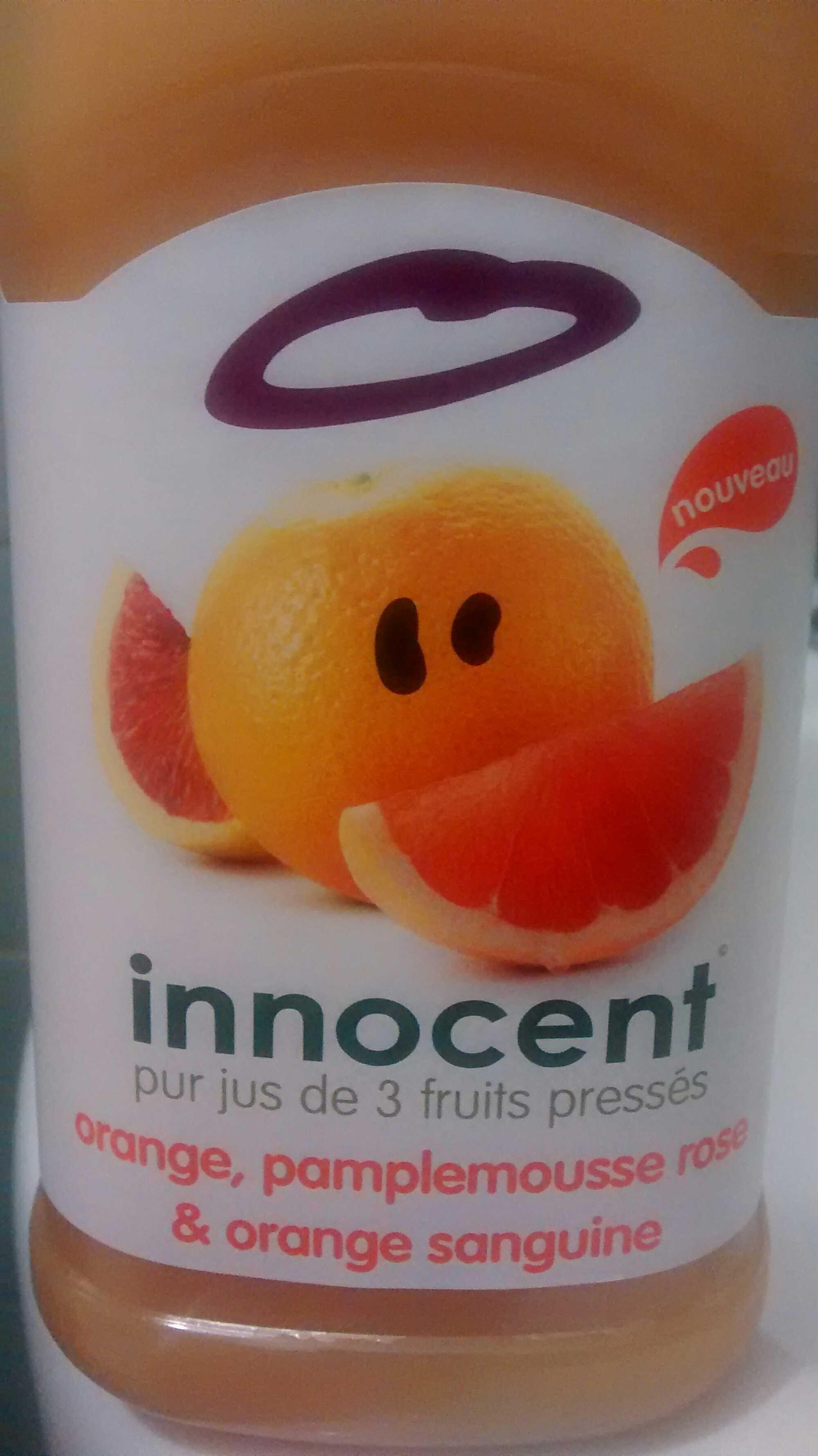 pur jus de 3 fruits pressés orange, pamplemousse rose & orange sanguine - Product