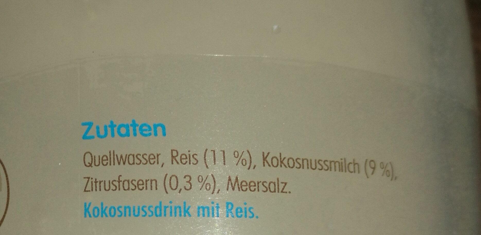 Innocent Kokosnuss & Reis - Ingrédients - de