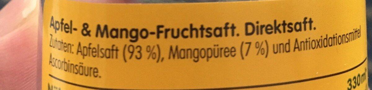 Apfel & Mango - Ingrédients - fr