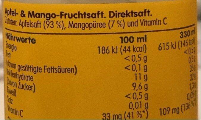 Apfel & Mango - Informations nutritionnelles - fr