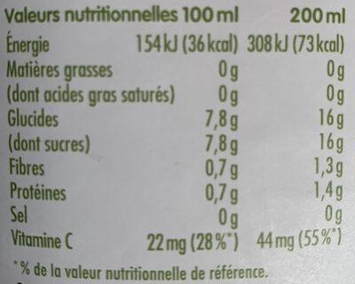 Pur jus d'orange sans pulpe - Nutrition facts