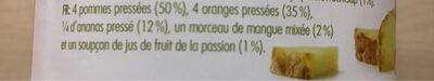 Innocent tropical juice - Ingrediënten - fr