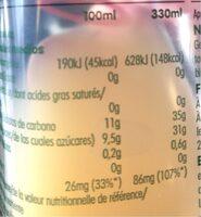 Innocent Zumo Manzana - Nutrition facts - fr