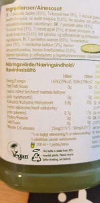 Jus de pomme kiwi concombre - Voedigswaarden