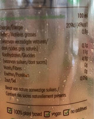 Innocent Dairy Free Oat drink - Nutrition facts