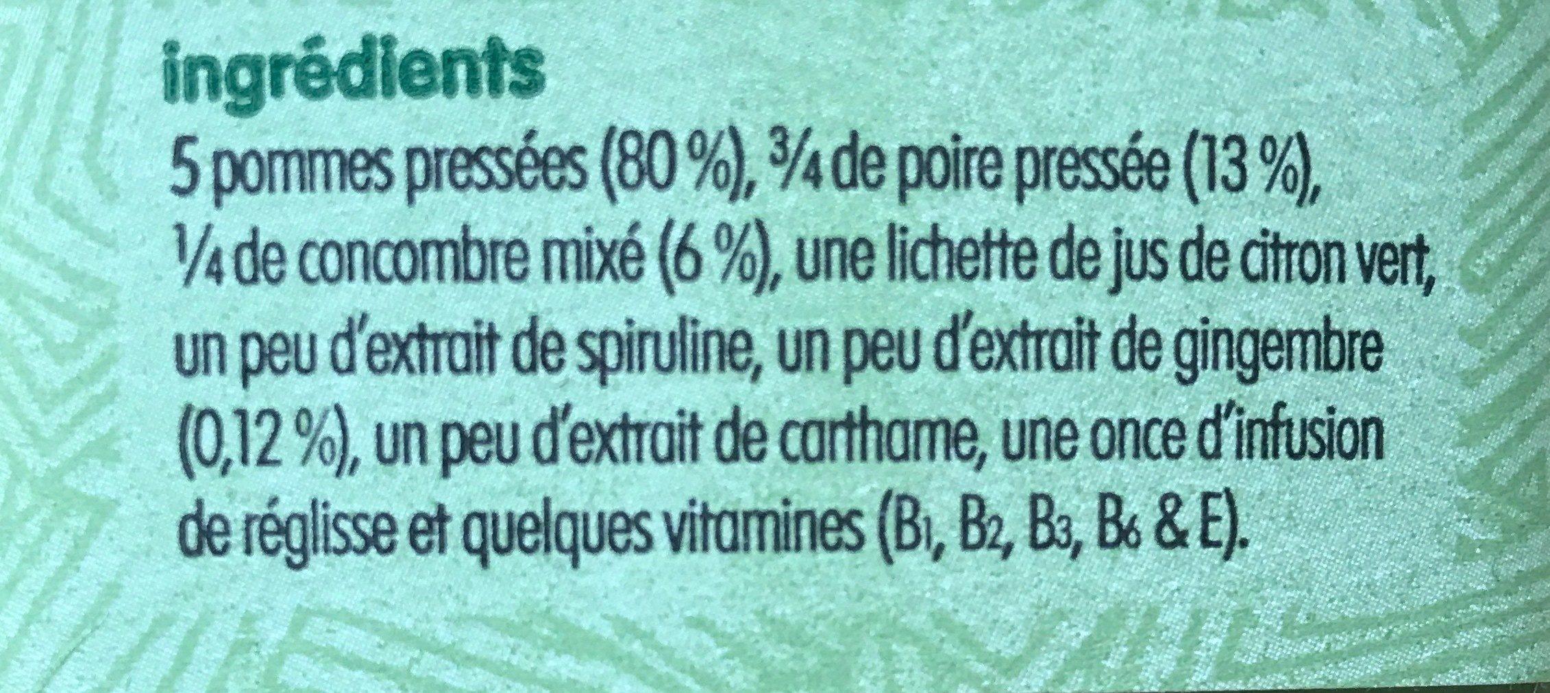 Super Vert - Ingredients