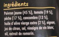Gazpacho jaune - Ingredients - fr