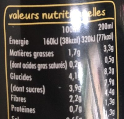 Gazpacho jaune - Nutrition facts - fr