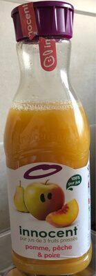 Innocent jus pomme, pêche & poire 900ml - Valori nutrizionali - fr