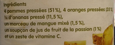 Innocent jus ananas & fruit de la passion 900ml - Ingredients - fr