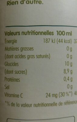 Innocent jus ananas & fruit de la passion 900ml - Valori nutrizionali - fr