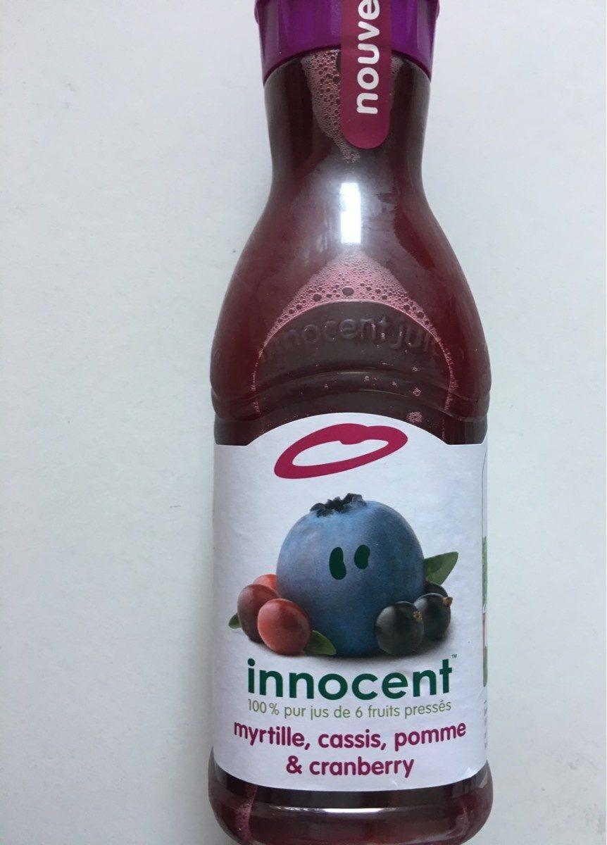 Innocent myrtille, cassis, pommes et cranberry - Product