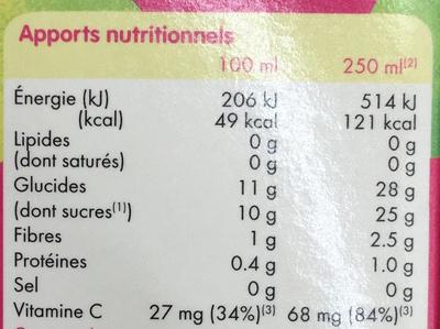 Smoothie rose Pomme, Poire & Betterave - Nutrition facts - fr