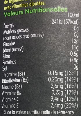 Super Smoothie Antioxydant - Nutrition facts - fr