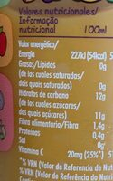 Innocent Mangonifico - Nutrition facts