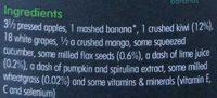 Antioxidant super smoothie kiwi, lime & wheatgrass - Ingredients
