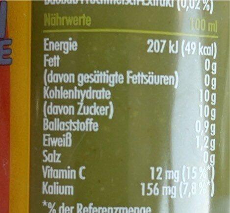 Green Smoothie - Valori nutrizionali - de