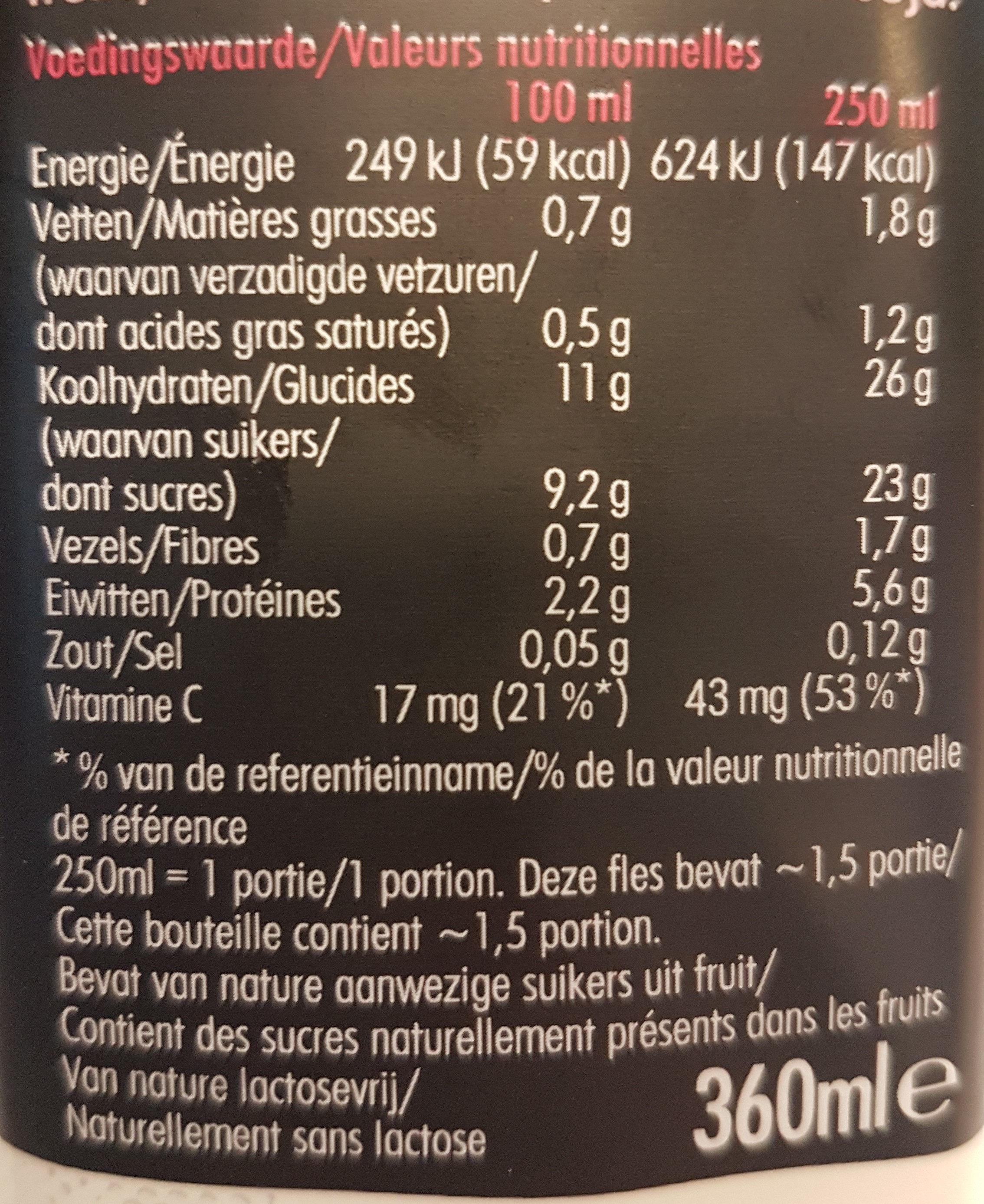 Super Smoothie Berry & Protein - Voedingswaarden