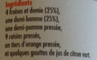 Smoothie fraises et bananes - Ingrédients