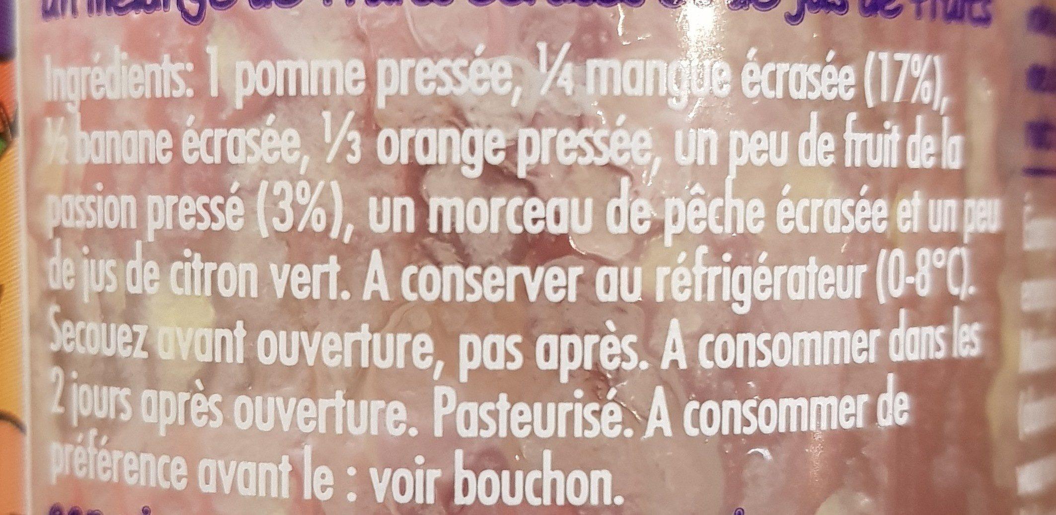 Innocent Sm. mangue Pass. - Ingrediënten