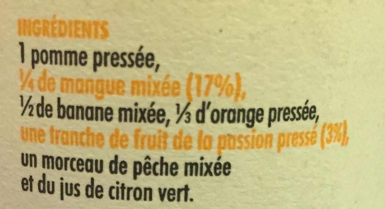 Smoothie mangue et fruits de la passion - Ingredientes