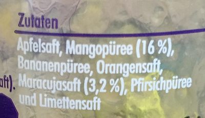 Innocent Smoothie, Mango Maracuja - Ingrédients - fr